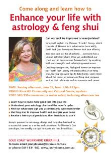 Jenny Blume Gold Coast astrology & feng shui seminar